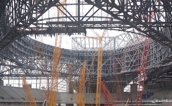 Oculus Roof under construction