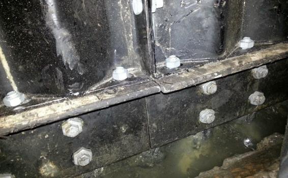 Tunnel reinforcement closeup