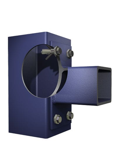 BoxBolt Application 1 — Two hollow sections at 90 degrees using an end plate