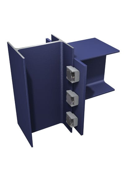 BeamClamp Application 13 — I-Section with end plate to column at 90 degrees