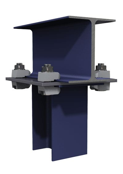 BeamClamp Application 17 — I-Section to top of a column end plate