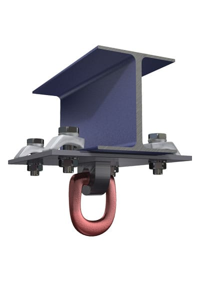 BeamClamp Application 27 — Swivel rigging point below an I-Section