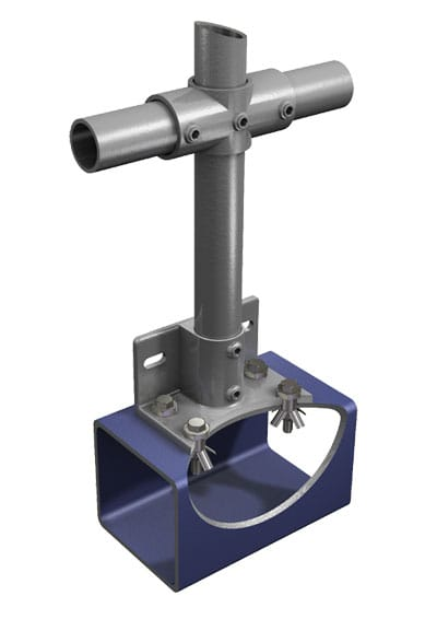 BoxBolt Application 8 — Top fixing of handrail base to hollow section