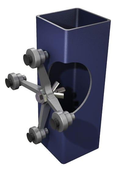 BoxBolt Application 9 — Glazing bracket to hollow section
