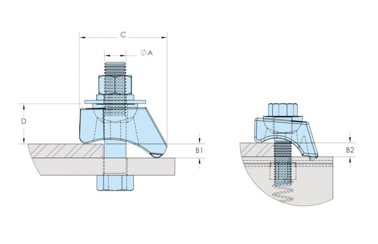 beamclamp type bk flange clamp dimensions