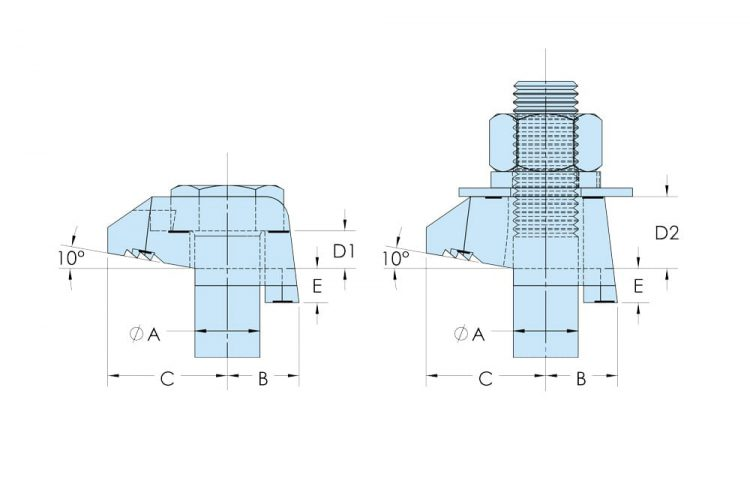 beaclamp type bt bw flange clamp dimensions