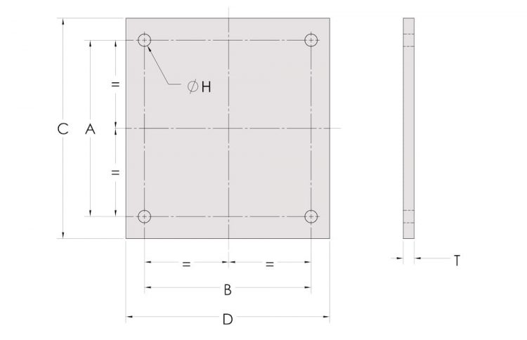 beamclamp location plate measurements