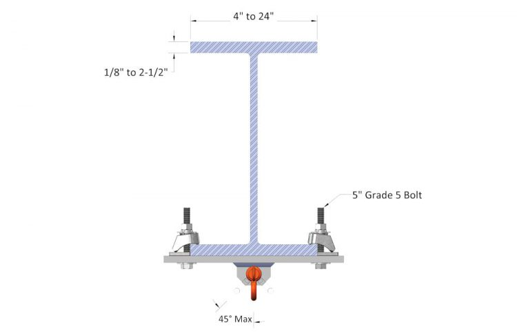 beamclamp rigging clamp dimensions