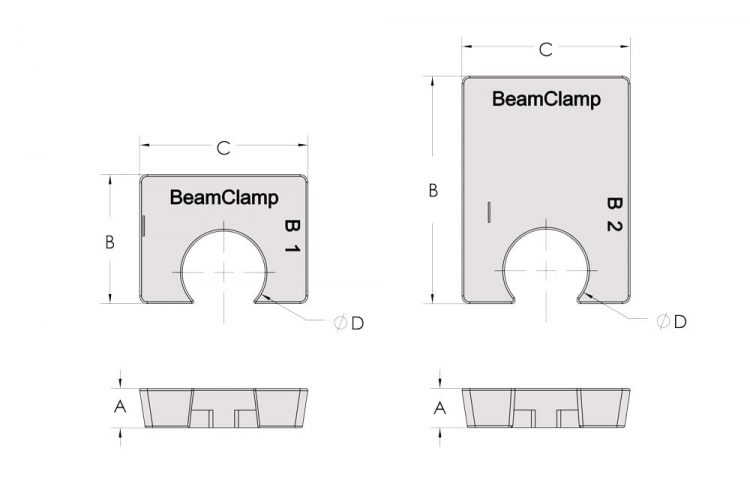 beamclamp bf1 packing pieces dimensions