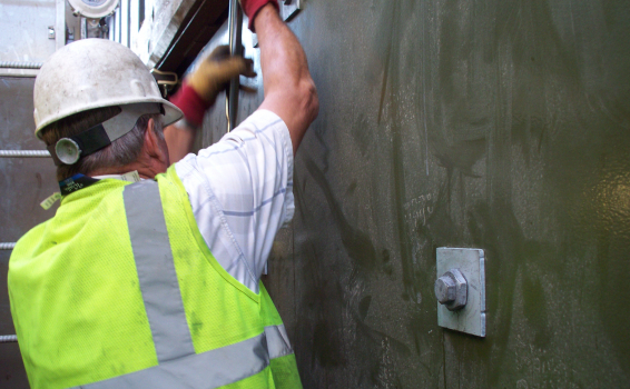 BoxSok used to install sea wall BoxBolts